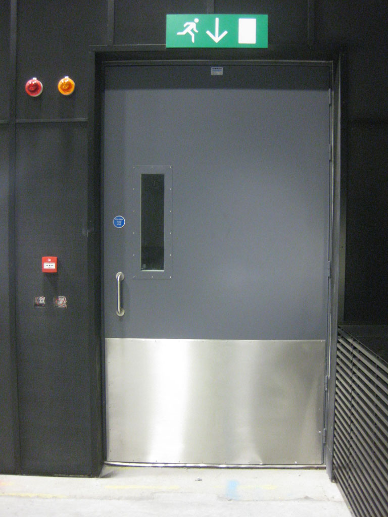 Acoustic Steel Hinged Door, Vision Panel