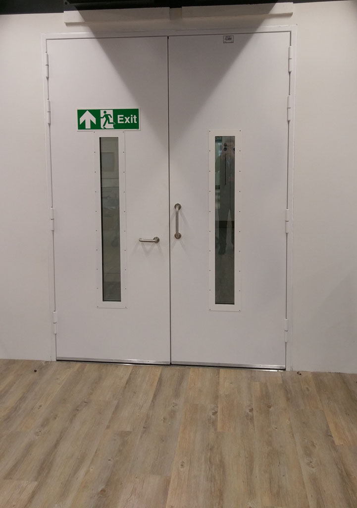 Acoustic Steel Hinged Door, Vision Panels - 40dB