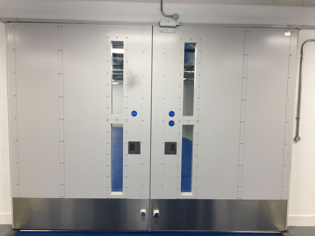 Fire Rated Pivot Door, Vision Panels - 60mins